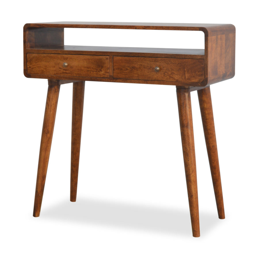 Dark Wood Console Table