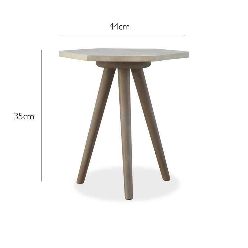 round Wood Side Table