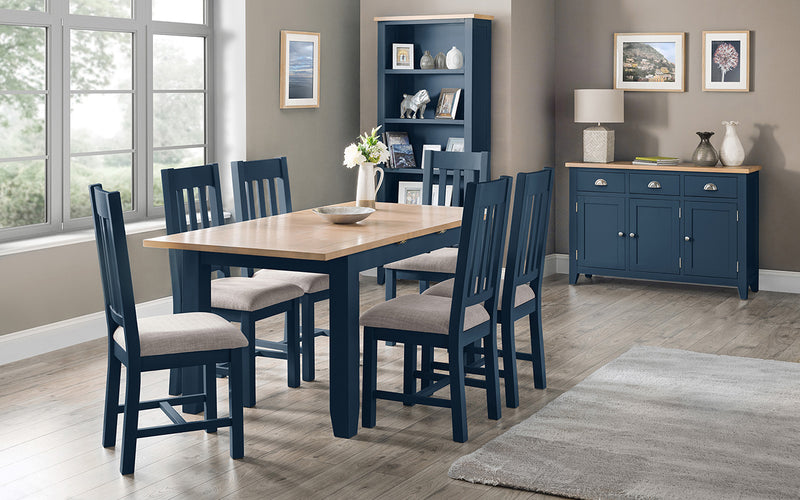 FULHAM KITCHEN TABLE BLUE