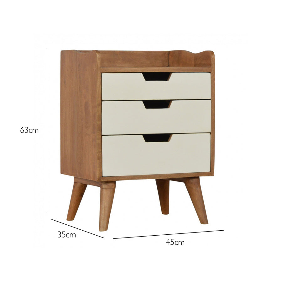 Handmade Solid Wood Bedside Table