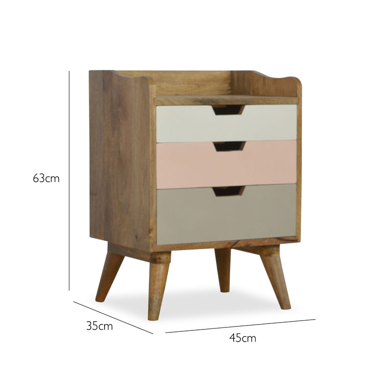 Handmade Mango Wood Bedside Table