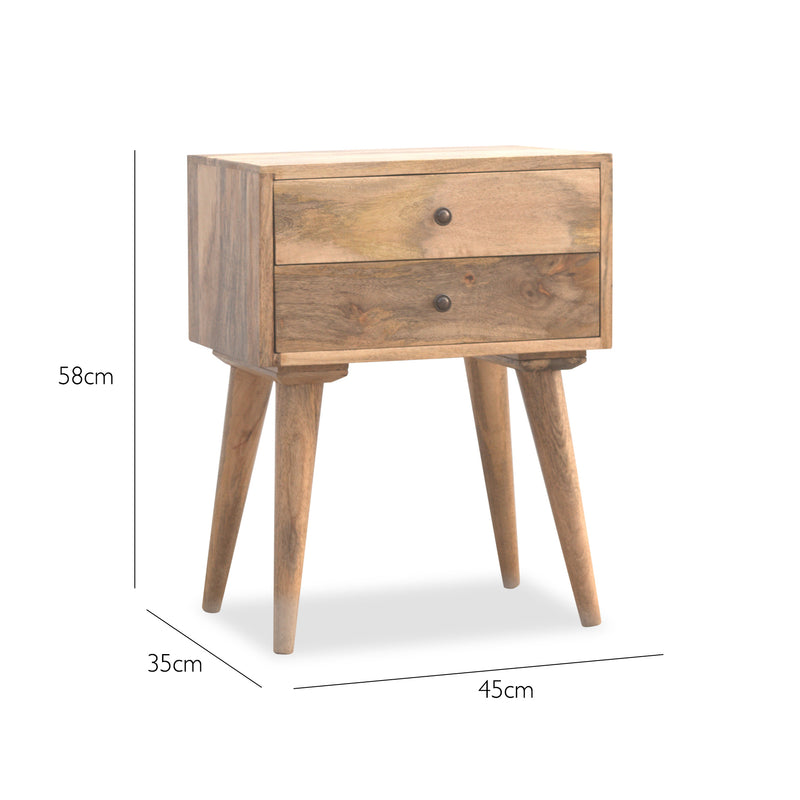 reputable site 8fb6a 7df62 Boast | Scandinavian Style Bedside Table | Bedroom Furniture