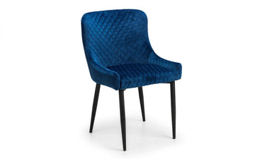 LUX CHAIR - VELVET BLUE