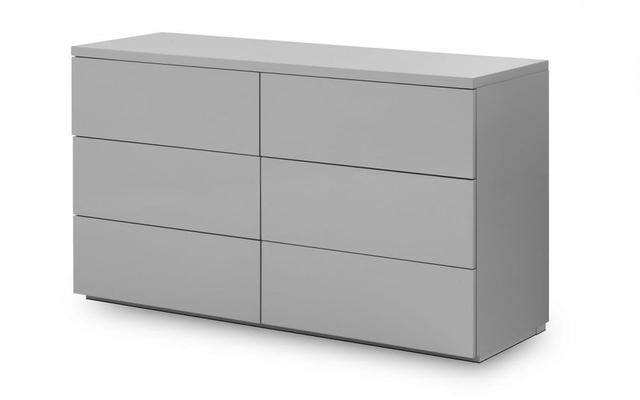 MONACO 6 DRAWER CHEST - GREY