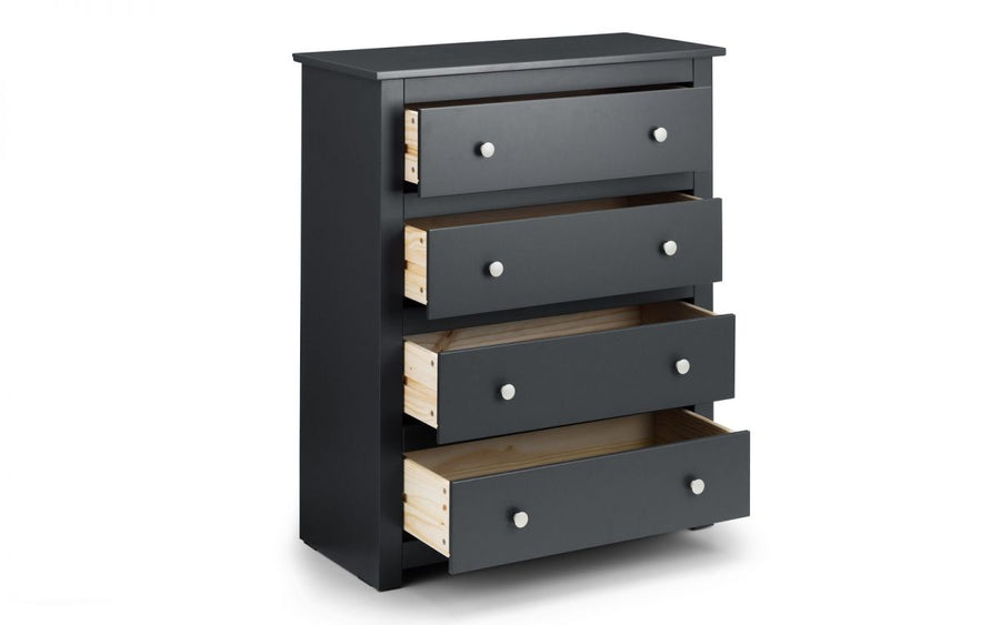 RADLEY 4 DRAWER CHEST - ANTHRACITE