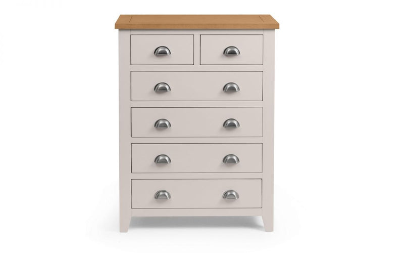 RICHMOND 4 + 2 DRAWER CHEST - ELEPHANT GREY