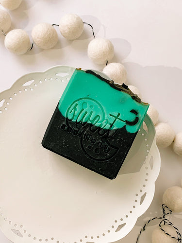 mint chocolate chip artisanal soap