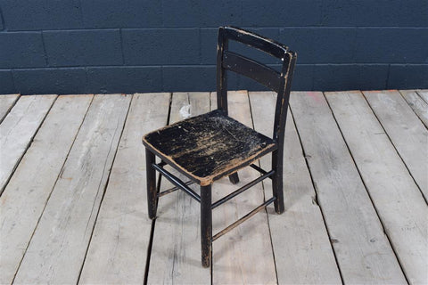 Small Vintage Black Childs Chair