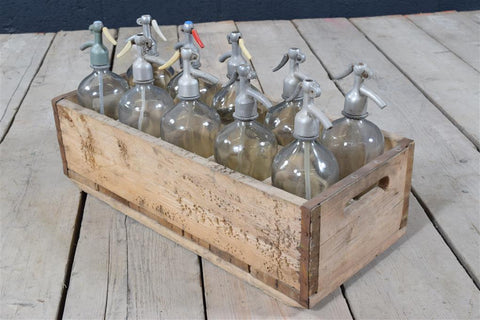 Crate Of Vintage Bottles