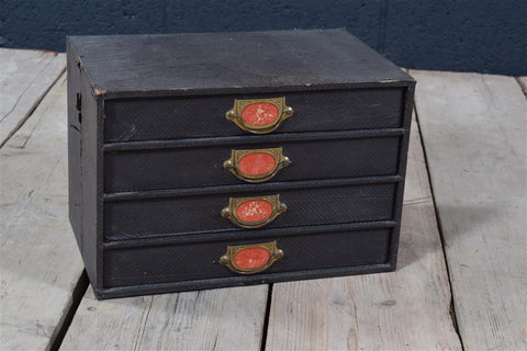 Black Vintage Library Drawers