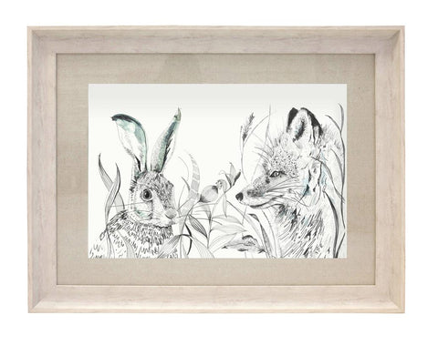 Birch Hunt Hare And Fox Picture