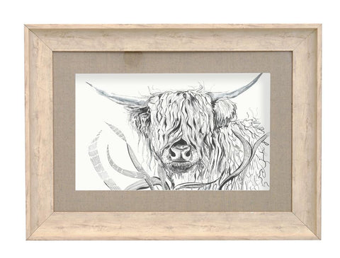 Birch Rudy Highland Cow Framed Picture