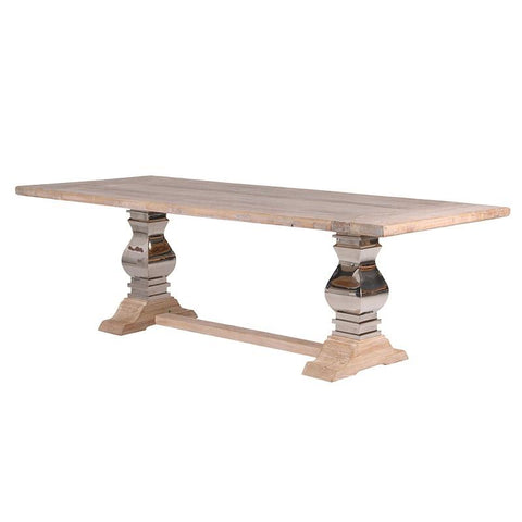 Refectory Table With Steel And Wood