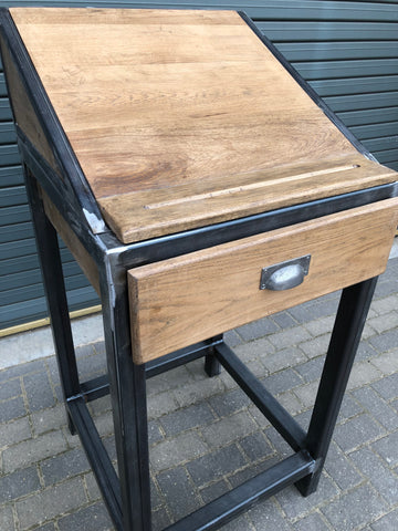 Industrial Oak Desk