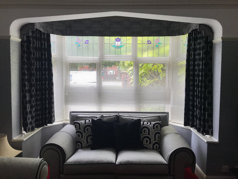 Bespoke curtains and pelmet
