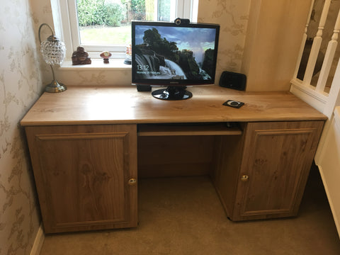 Bespoke oak desk