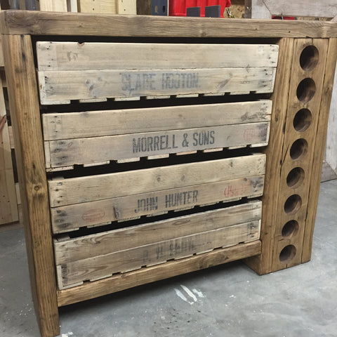 Bespoke wine rack unit