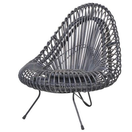Wicker Grey Chair