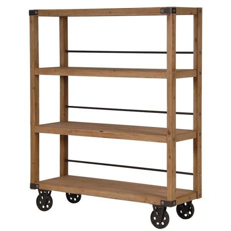 Industrial Wooden Shelf Unit