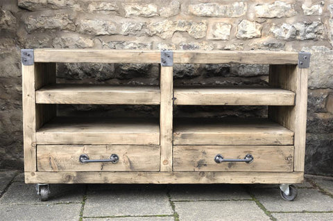 Industrial Rustic Media Unit