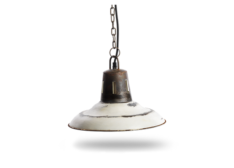 Distressed Cream Metal Shade Light
