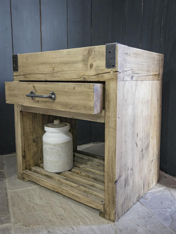 Rustic Butchers Block Unit