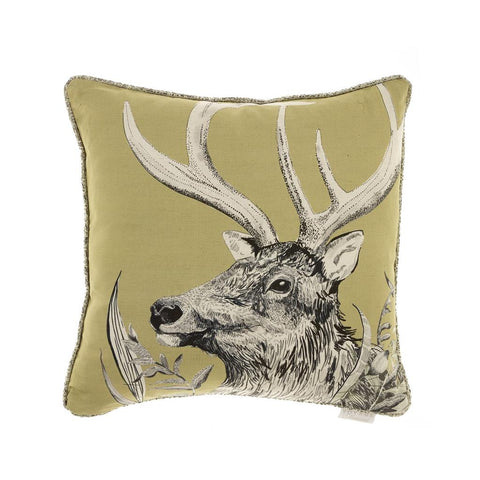 Stag Darby Mustard Cushion