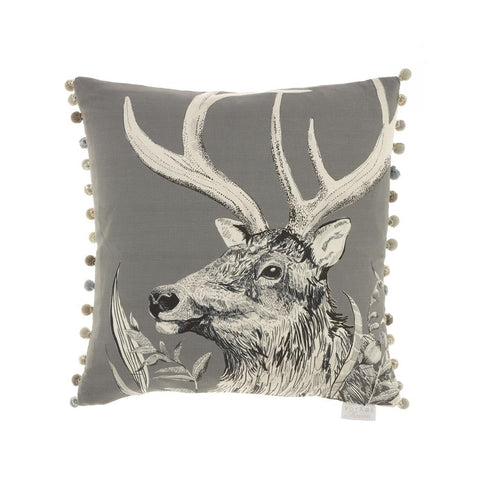 Stag Darby Charcoal Cushion