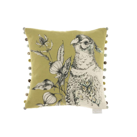 Pheasant Avem Olive Cushion