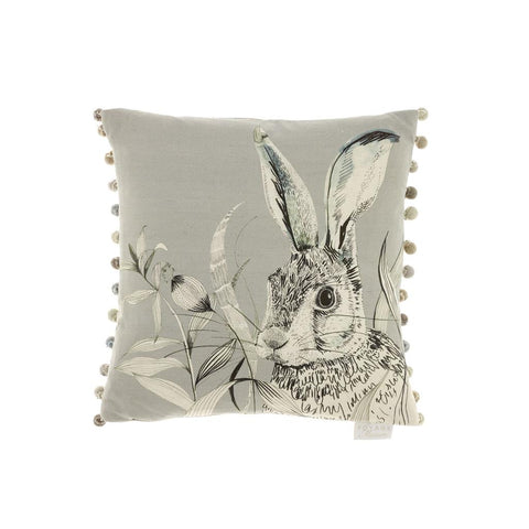 Hare Pounce Silver Cushion