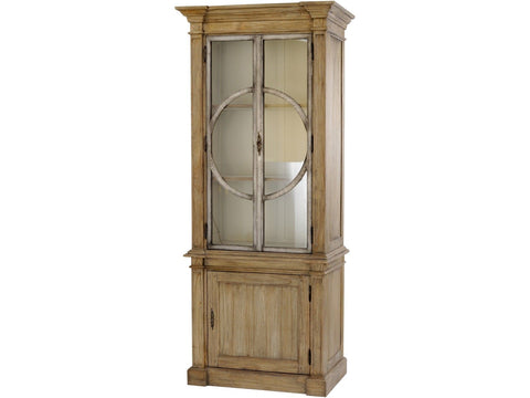 Glass Front Colonial Cabinet
