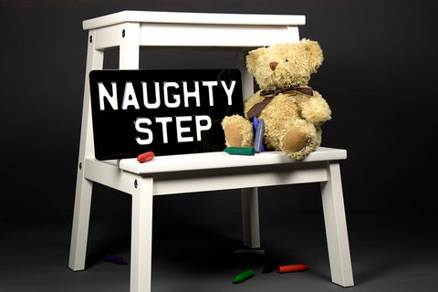 Naughty Step Metal Sign