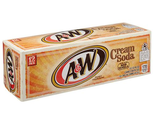 A&W Cream Soda - Can 12pk