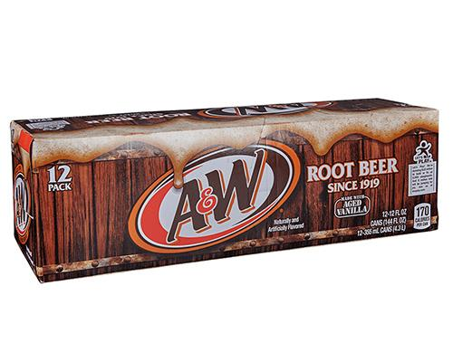 A&W Root Beer - Can 12pk