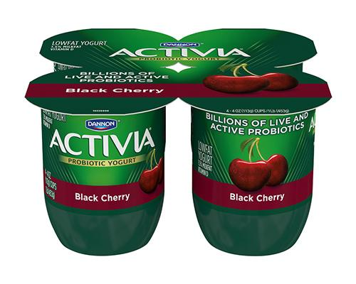 Activia Yogurt Black Cherry - 4pk