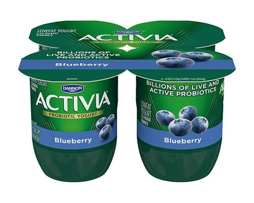 Activia Yogurt Blueberry - 4pk
