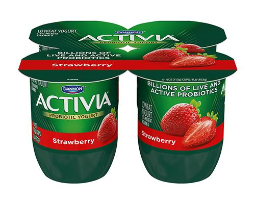 Activia Yogurt Strawberry - 4pk