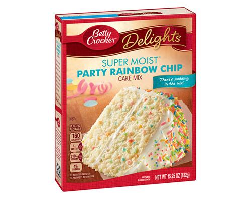 Betty Crocker Party Rainbow Chip Cake Mix