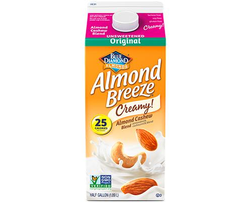 Blue Diamond Almond Breeze Creamy Almond Cashews Original Unsweetened