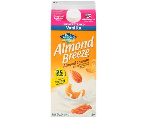 Blue Diamond Almond Breeze Creamy Almond Cashews Vanilla Unsweetened