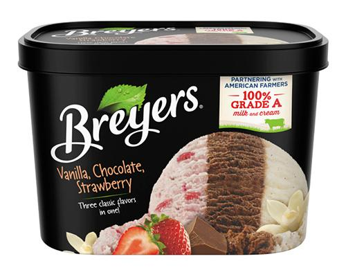 Breyers Ice Cream Vanilla Chocolate Strawberry