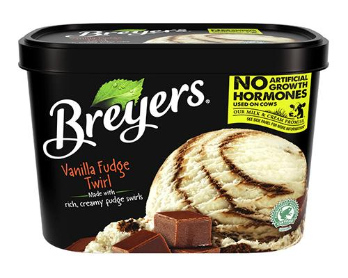 Breyers Ice Cream Vanilla Fudge Twirl
