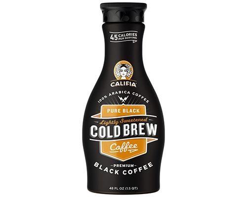 Califia Pure Black Cold Brew Coffee Lightly Sweetened