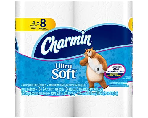 Charmin Toilet Paper Ultra Soft - Double Rolls 4 ct