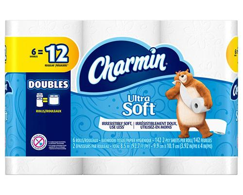 Charmin Ultra Soft Toilet Paper 6 Double