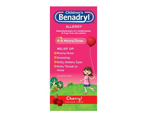 Children's Benadryl Cherry Flavour