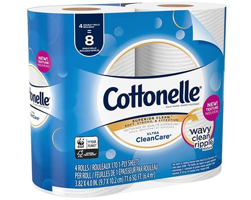 Cottonelle Toilet Paper (Double Roll) - 4 ct