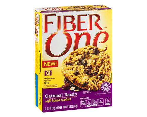 Fiber One Oatmeal Raisin - 6 ct
