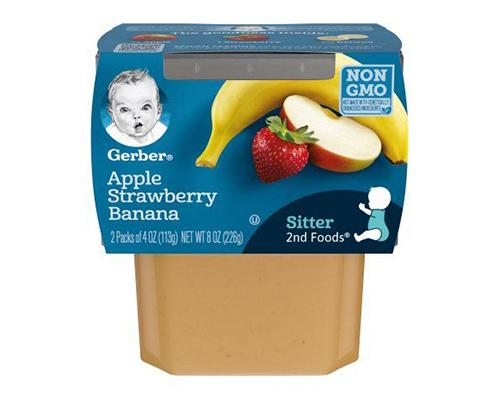 Gerber Apple Strawberry Banana - 2pk