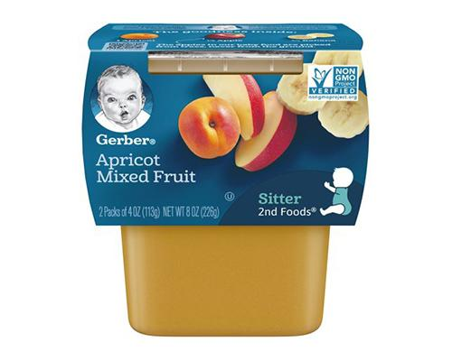 Gerber Apricot Mixed Fruits - 2pk
